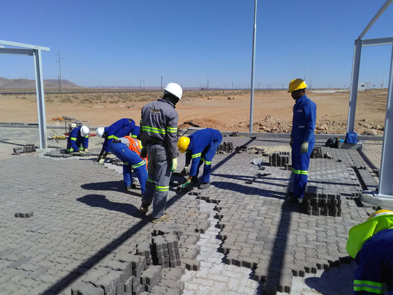 Gamsberg Mine - Installation of paving kerbs and manholes | Silo n Sons (PTY) Ltd